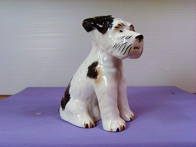 Vintage Dog Figurine~WIRE HAIRED FOX TERRIER~MID CENTURY CERAMIC DOG~JAPAN