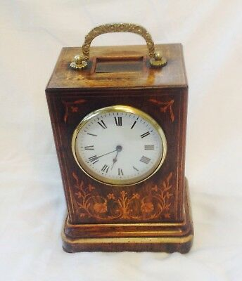 French Rosewood Campaign Clock. 1850