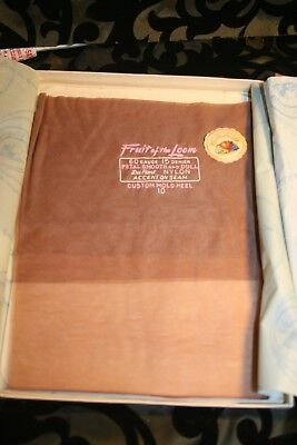 Vintage Stockings SEAMED 2 pr Lot New in package Fruit of the Loom (Item#785)