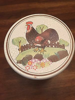 Small Stool Three Legged Rooster Painted on Top Chesapeake Bay Crafts