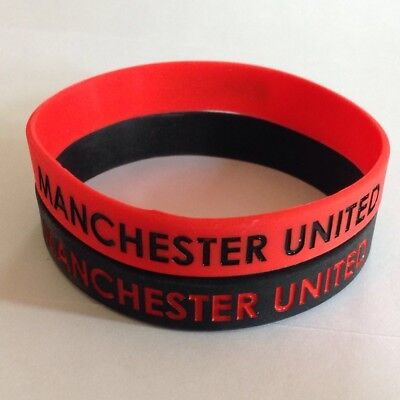 MANCHESTER UNITED silicone wristbands FREE P&P over 100+ sold