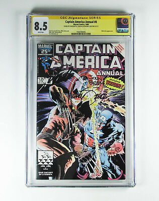 Captain America Annual 8 CGC 8.5 signed by John Beatty Stan Lee Michael Zeck