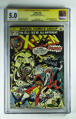 X-Men 94 CGC 5.0 signed by Stan Lee and Len Wein 2nd app Colossus Nightcrawler