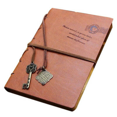Classic Retro Vintage Leather Notebook Bound Blank Page Journal Diary M9W9 A4W5