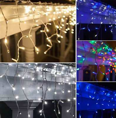 Icicle String Fairy Lights LED Christmas Garden Outdoor Decorations 180/300/500