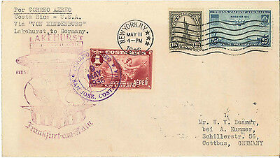 1936 Hindenburg Zeppelin First North American Flight - Costa Rica To Germany