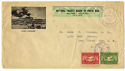 Costa Rica To Usa - 1937 Official Cover - Nice Big Cover