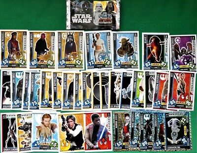 30+ Topps Star Wars Force Attax Universe Trading Cards 2017 - Reg, Boost, Holo