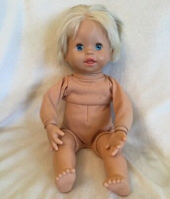"""Fisher Price Real Loving Baby Little Mommy 2006 Interactive Doll 13"""" Mattel"""