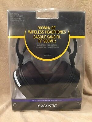 SONY MDR RF925RK 900MHZ 150 Feet Wireless Rechargable Headphones Brand New