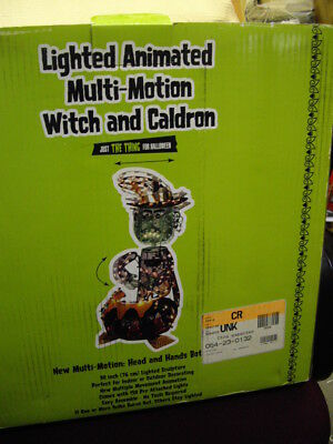 """""""just The Thing For Halloween """" Lighted Animated Multi Motion Witch & Caldron"""