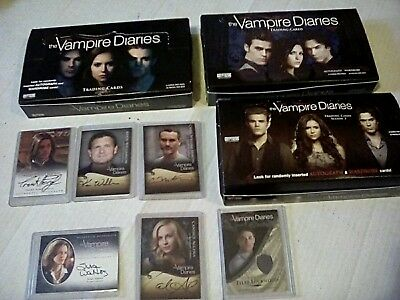 Vampire diaries cards boxes autographs costumes collection lot