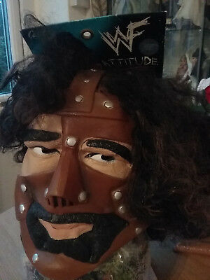 WWF WWE Mankind full head mask - Halloween?