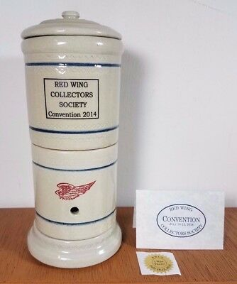 RED WING Pottery COLLECTORS SOCIETY 2014 COMMEMORATIVE SUCCESS FILTER w/ RISER