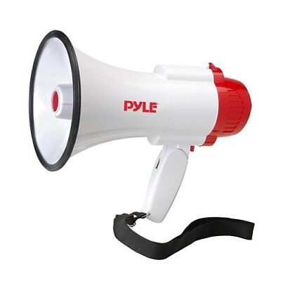 Pyle Pro Siren Megaphone Pmp35r And Professional Voice Bullhorn Recorder Bull