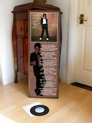 Michael Jackson Off The Wall Promotional Poster Lyric Sheet,beat It,thriller