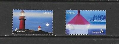 2007 Norway full set of 2 stamps featuring lighthouses that are used