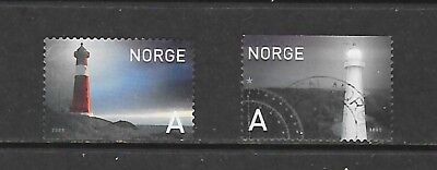 2005 Norway full set of 2 stamps featuring lighthouses that are used