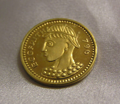 SOLID SILVER GILT SOVEREIGN of KING OFFA 796 AD 4.5 GRAMMES
