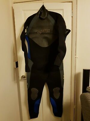 MARES ISO THERM SEMI DRY DIVING SUIT 6.5mm SIZE 7 XXL WETSUIT REAR ENTRY