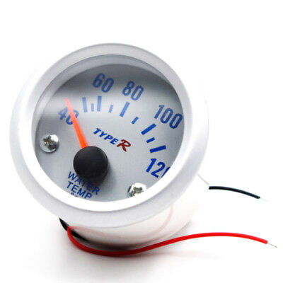 """2"""" Car Water Celsius Temp Temperature Pointer Gauge Meter White Shell Cheap"""