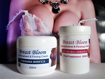 Breast Bloom Breast Enhancement With Pueraria Mirifica Cream & Tablets
