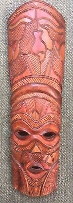 Native Tribal African Zulu Warrior Wood Mask Carving