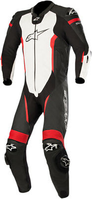 Alpinestars MISSILE Leather Suit Tech-Air Compatible (Black/White/Flo Red)
