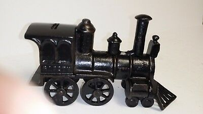 "Antique Cast Iron original ""SAFETY LOCOMOTIVE BANK"" made in US c1887 rated a ""D"""