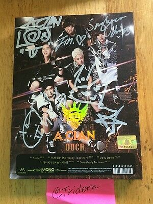 A.CIAN ACIAN OUCH MINI Album Signed Autographed All Members KPOP Authentic Gold