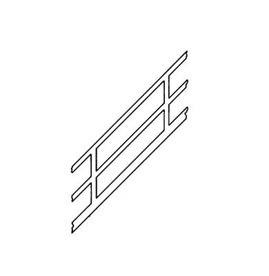 Plastruct Styrene Stair Rails various sizes SRS-2 SRS-4 SRS-8 SRS-12 SRS-16