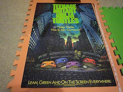 Teenage Mutant Ninja Turtles 300Pc Movie Poster Puzzle (1990) Complete Rare VG