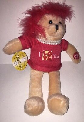 "Chantilly Lane Bright Spots ""I LOVE You"" Singing Teddy Bear w/ Light-Up Badge"