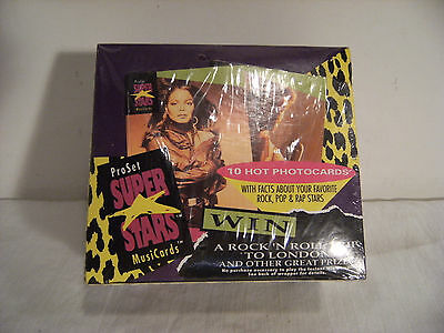 1991 Stars Collector Cards Factory Sealed Box Madonna,George Michaels, MC Hammer