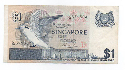 SINGAPORE $1 Bird Series ND1976 Circulated VF condition