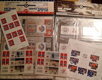 Hockey Lot of Canada Post MNH including holographic and Stamp Cards