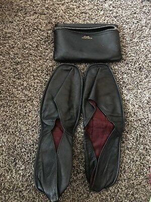 Vintage Loyal Brand Persian Cabretta Leather Travel Slipper Sz 12 W/Zipper Pouch