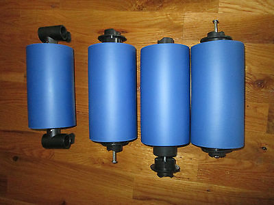 Ab Rocket Blue Replacement Padded Rollers W Inserts & Screws