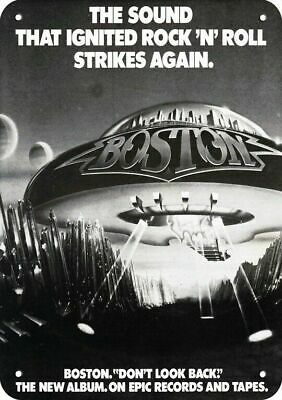 1978 BOSTON Band DON'T LOOK BACK Album Release REPLICA METAL SIGN - SPACESHIP