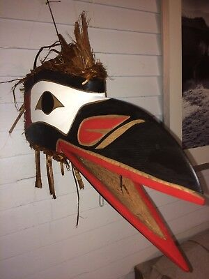 Northwest Coast Native Raven mask