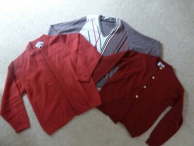 Lot Of 3 Ballantyne Sweaters Made In Scotland  Sz. S 100% Cashmere