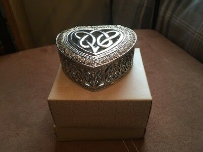 Celtic Design Heart Trinket Box By Past Times
