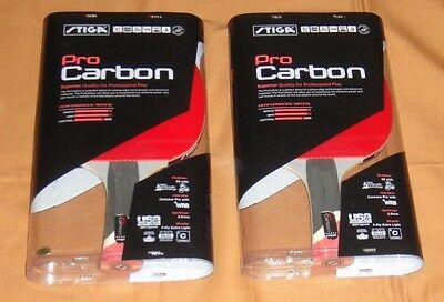 STIGA PRO CARBON - LOT OF 2 - Table tennis paddles ping pong