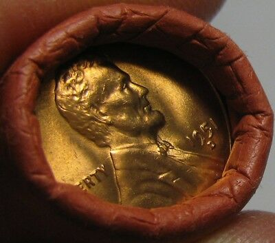 1951 D Obw Original Bank Wrapped Roll Bu Uncirculated Lincoln Wheat Cent Pennies