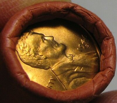 1946 D Obw Original Bank Wrapped Roll Bu Uncirculated Lincoln Wheat Cent Pennies