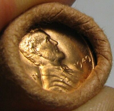 1949 P Obw Original Bank Wrapped Roll Bu Uncirculated Lincoln Wheat Cent Pennies