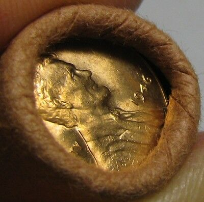 1946 P Obw Original Bank Wrapped Roll Bu Uncirculated Lincoln Wheat Cent Pennies