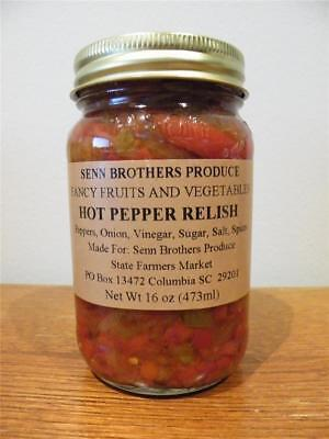 Senn Brothers Produce Hot Pepper Relish 16 Fl. Oz. Jar