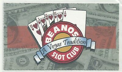 Beanos Paper Casino Slot Card New Never used Las Vegas