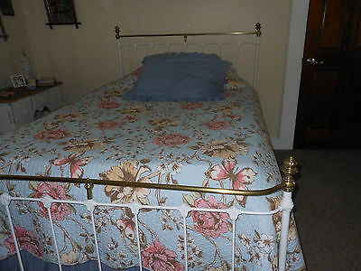 Antique Iron and Brass Bed - Full Size
